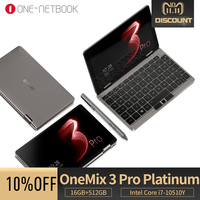 OneMix3 Pro Platinum notebook 8.4 inches IPS touchsreen Intel Core i7 10510Y Quad Core 16GB 512GB Windows 10 laptop Yoga tablet