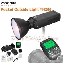 Светодиодная лампа для видеосъемки YONGNUO YN200 вспышка светильник ttl фотокамер Speedlite HSS 2,4G 200W Батарея с Тип usb C совместимый YN560-TX(II)/YN560-TX Pro/YN862 для Canon Камера