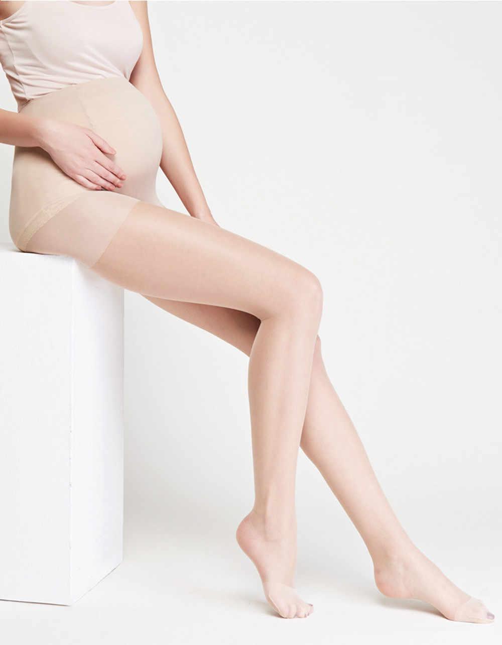 Collants de maternité collants de grossesse pièce unie chaussettes collants siamois pour femmes enceintes maternité comme spectacle bas de soie