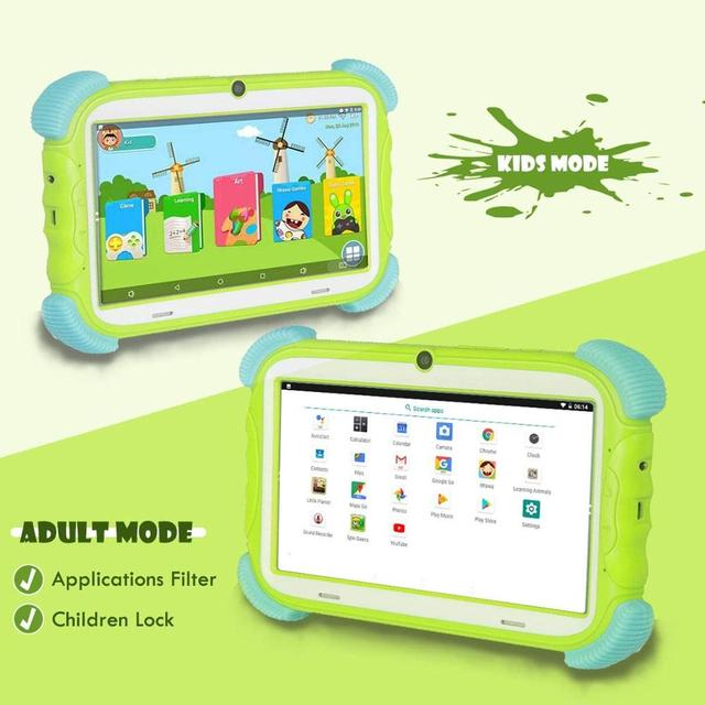 ZONKO Kids Tablet 7 inch Android 9 0 Tablet 2GB RAM 16GB ROM Tablets PC for