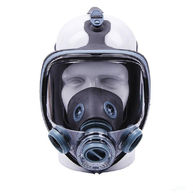 Painting Spray Gas Mask N95 Chemical Full-face Mask Respirator Long Tube Filter Pesticide Ammonia with Automatic Blower 4