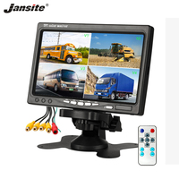 Jansite 7 Car TFT Monitor 4 channel video input with IP67 waterproof 18IR rear cameras Reverse Assistance Camera Parking System