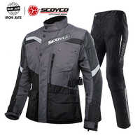 SCOYCO Waterproof Keep Warmer Motorcycle Jackets&Pants set Motorbike Protective Riding Suits Motocross Racing Protective Clothes