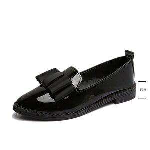 Классическая Брендовая обувь; женская повседневная обувь с острым носком; однотонные черные кожаные туфли-оксфорды для женщин; удобная жен...