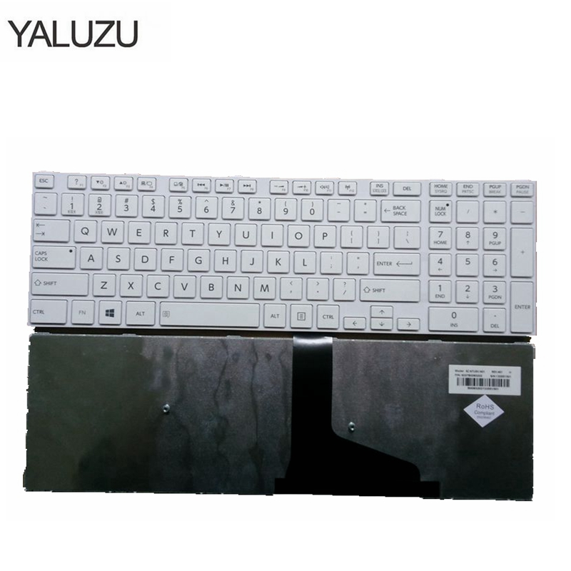 Image 2 - English Keyboard for Toshiba Satellite C50 C50D C50 A C50 A506 C50D A C55 C55T C55D C55 A C55D A US Keyboard with frame black-in Replacement Keyboards from Computer & Office on