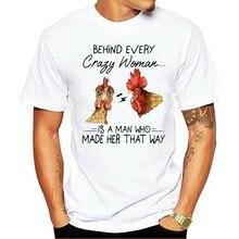 Louco de Frango Por Trás De Cada Mulher...... UM Homem Que Fez Ela Dessa Forma Dos homens 2021 t-shirt 2Xl 13Xl