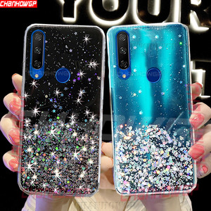 Clear Glitter Soft Silicone Case For Huawei Honor 9A 9S 9C 9X 30 30S 20S 10i 10 20i 20 Lite 7X 7S 8X 8A 8C 8S Prime Bling Cover