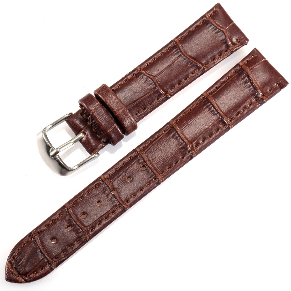 18mm Genuine Men's Watchband Bussiness Style Watch Replacement Band Clasp Buckle Pattern Exquisite Accessories