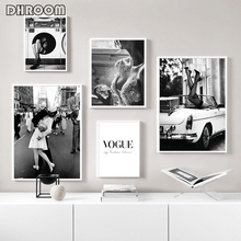 Póster de moda, Impresión de arte de pared, lienzo blanco y negro, pintura de Perfume para mujer, fotos para sala de estar, decoración Vintage de moda para el hogar