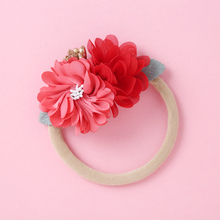 Headband Hair-Accessories Flower Elastic Baby-Girl Children for 5-Color Gifts Beautiful