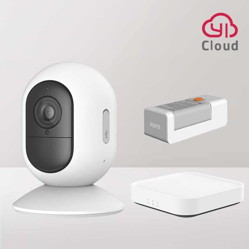 çDiscountYI Kami 1080P Wire-Free Ip Camera Kit Wireless Outdoor Battery Security Camera Motion Detection Night Vision Two-Way Audioφ