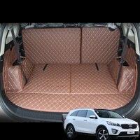 lsrtw2017 for kia carens rondo leather car trunk mat cargo liner 2013 2014 2015 2016 2017 2018 2019 2020 rug carpet accessories