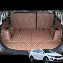 lsrtw2017 for kia carens rondo leather car trunk mat cargo liner 2013 2014 2015 2016 2017 2018 2019 2020 rug carpet accessories