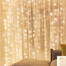 220V EU 2*2 180LED curtain String Memory Fairy Lights Wedding Home Birthday Valentines Day Event Party Garland Decor Luminaria