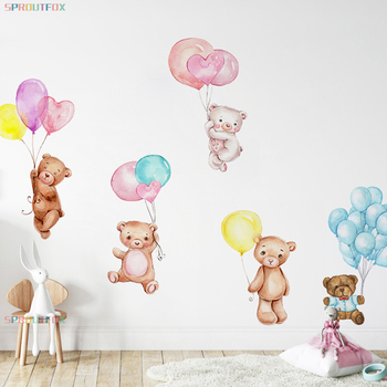 фотообои на стену наклейки на обои декор на стену в спальню наклейки на стены декор на стену в спальню декор на стену наклейки на стену детские наклейки на стену наклейка на стену настенные наклейки милый медведь Разно