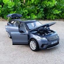 1:32 escala diecast liga de metal luxo suv modelo de carro para range rover vela coleção fora de estrada veículo modelo som & luz brinquedos carro