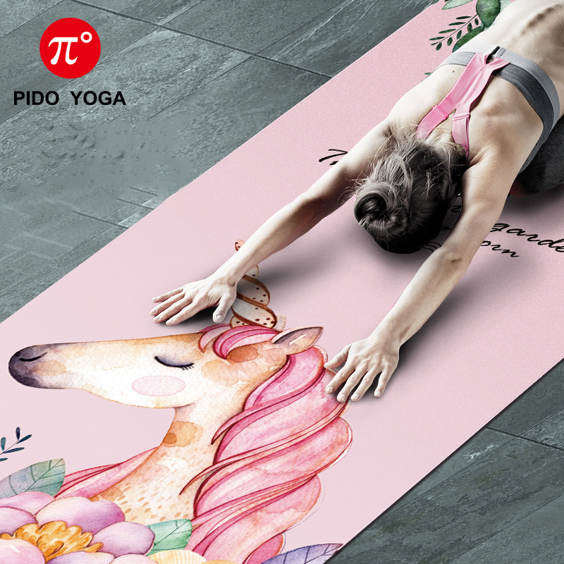 PIDO Natural Rubber Yoga Printing Anti-skid and Wide Portable Folding Yoga Mat Suede Thin Blanket 4