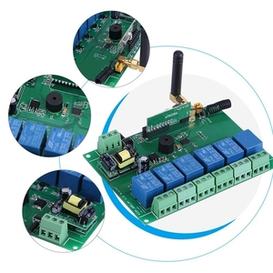110-240 В 6-канальный РЧ релейный модуль Плата управления Переключатель 6-канальный радиоприемный контроль Лер Высокая стабильность 6-канальный релейный модуль
