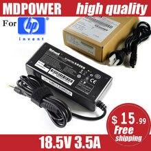 Mdpower para hp 18.5v 3.5a ppp009l 65w carregador de adaptador de energia portátil