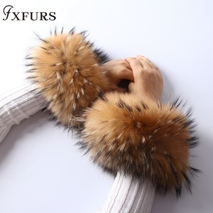2020 Real Women Genuine Fox Fur Cuffs Ha