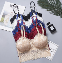 Beauty back wrapped chest tube top lace ladies underwear cross-border anti-glare belt chest pad  sexy strap bra female