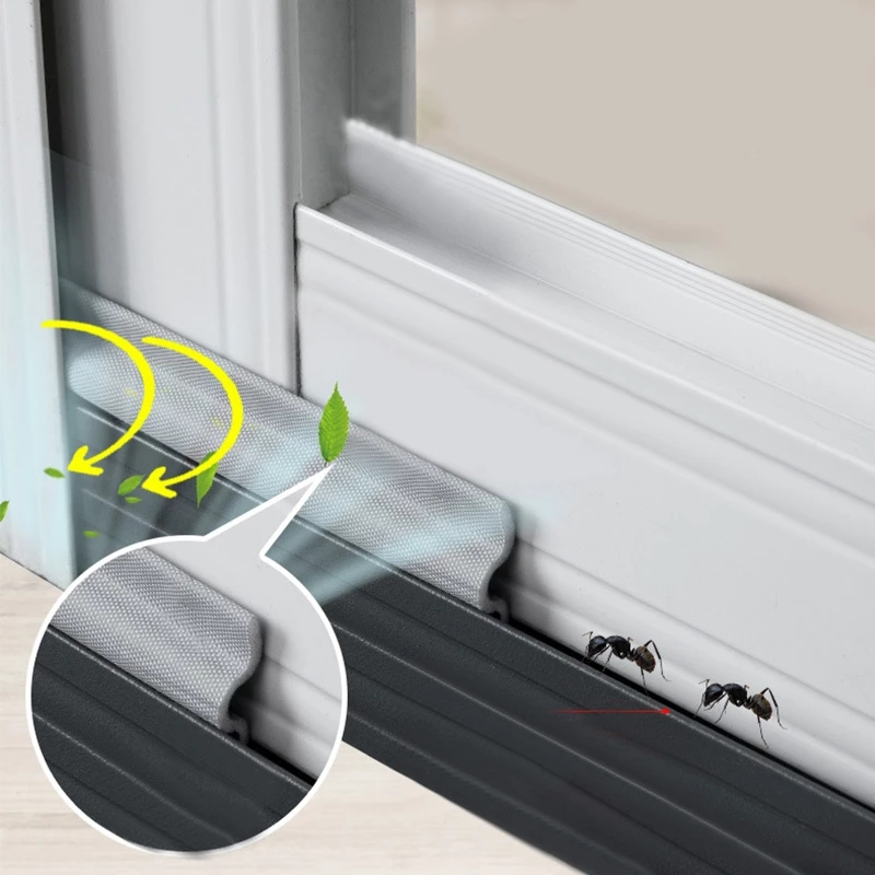 4M-32M Adhesive Window Strip Acustic Foam SoundProof Windproof Acoustic Under Door Draft Stopper Weather Stripping Sealing Seal