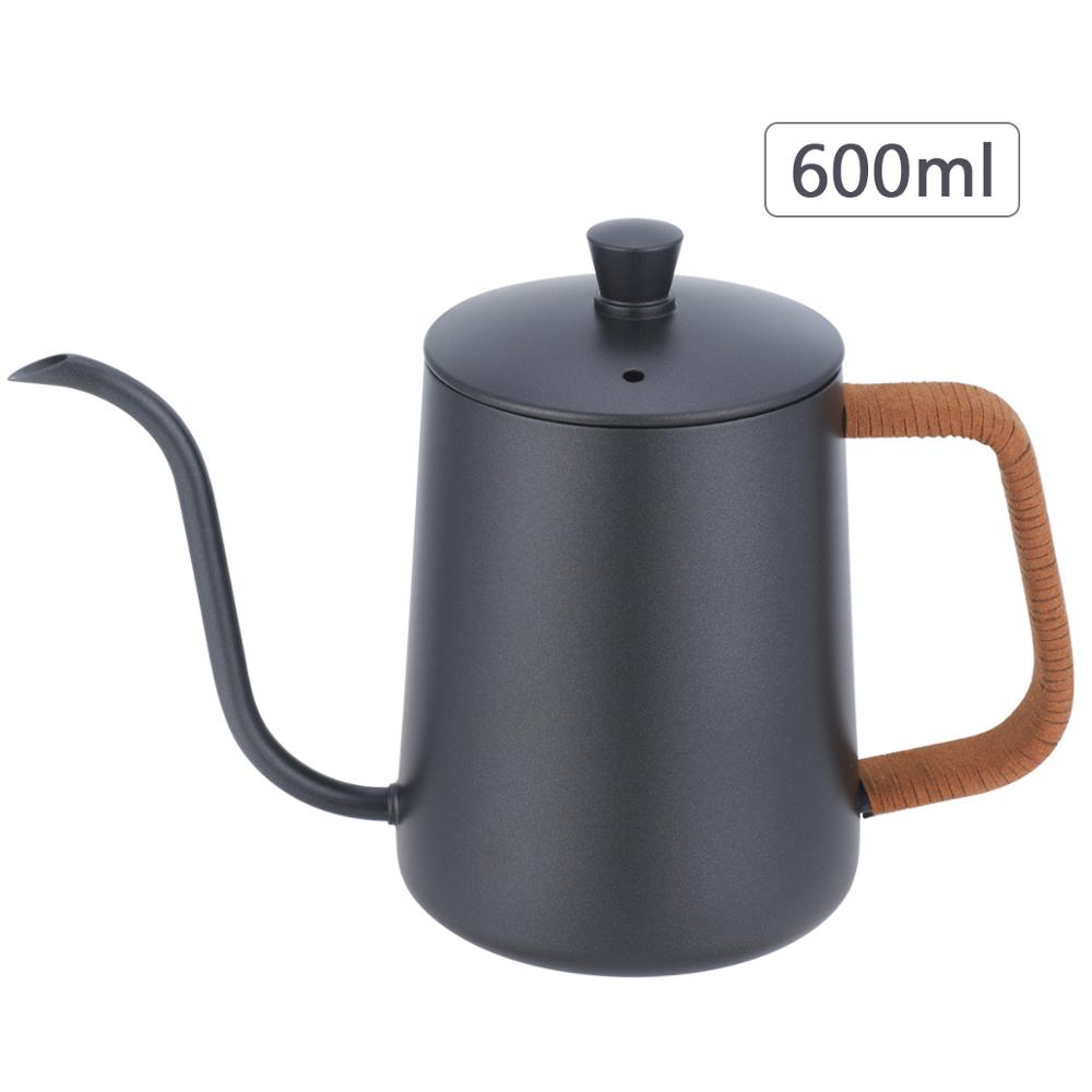 Wingjip Long Narrow Spout <font><b>Coffee</b></font> Pot Pour-Over Kettle Gooseneck Spout Drip <font><b>Coffee</b></font> Pot Perfect for <font><b>Coffee</b></font> Maker-600ml image
