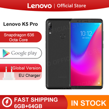 Global Version Lenovo K5 Pro 6 GB 64 GB Snapdragon636 สมาร์ทโฟน Octa Core กล้อง 4 5.99 นิ้ว FHD 4G LTE 4050 mAh แบตเตอรี่