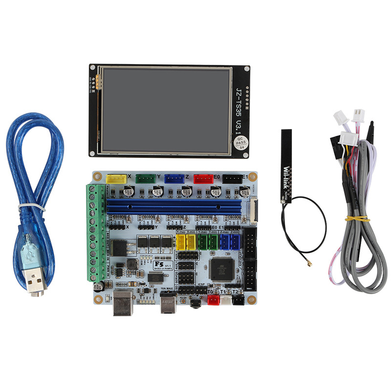 3D Printer Motherboard F5 V1.1+3.5 Inch Wifi Contact Color Screen 9 Languages Instead Of Mks Base