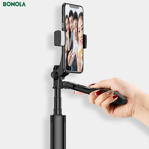 Image 4 - Video Stabilizer Selfie Stick Tripod for iPhone Xiaomi Huawei Gimbal Bluetooth Tripod Selfie Stick Fill Light For Mobile Phone