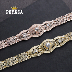 Image 1 - free shippping Moroccan Sun Flower Caftan wedding gold and silver Metal belt for women