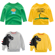 New Baby Boy T-Shirt Long Sleeve Cotton Animal Dinosaur Print Children Clothes Kids Autumn Blouse Baby Boys T shirts Tops Tee 80 120cm cute animal dinosaur children tops short sleeve t shirt summer kids boys clothing shirts tee casual baby boys clothes