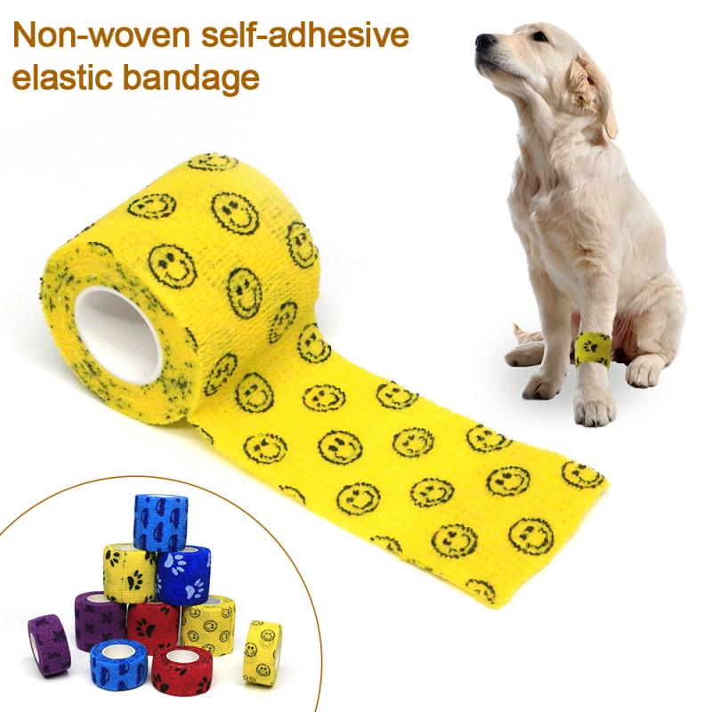 1 Pcs Medical Therapy Self Adhesive Bandage Muscle Tape Finger Joints Wrap Outdoor First Aid Kit Pet Elastic Bandage 4.5 Meters