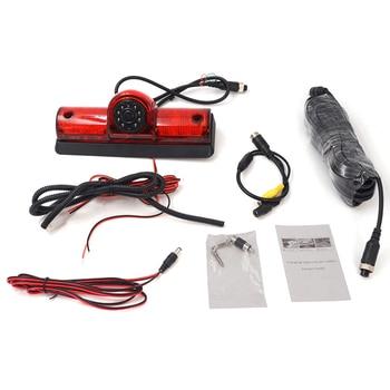 Car LED Brake Light IR Rear View CMOS Waterproof HD Camera Parking Camera for Nissan NV Passenger and Cargo Van 2009-2014