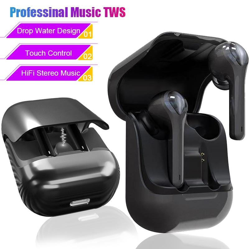 True HiFi Stereo Music Earphone Wireless Bluetooth 5.0 Earphones Touch Earbuds Sport Headphones Bluetooth Headset Long Airbuds