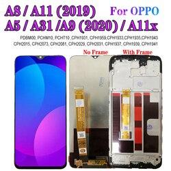 ЖК-дисплей A11X с рамкой для OPPO A31, A5, A9 2020, дисплей A8, A11 2019, ЖК-экран с сенсорным дигитайзером, cphпульс 6,5, cph1904, cph607, cph607, PDBM00, дюйма