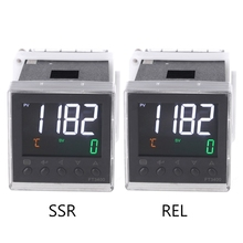 Relay SSR Output K J Pt100 PID Thermostat Din AC 100-240V Temperature Controller AC 100-240V LCD Display Waterproof