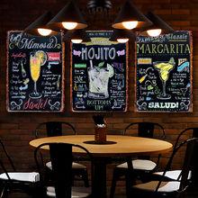 Tiki Bar-carteles de Metal Retro de cerveza abierta para verano, Mojito Martini, CUBA LIBRE, placa con inscripción para Bar, pegatinas de arte para decoración de pared