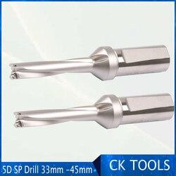 ZD05 CNC werkzeuge Präzision flach bohrer CNC Werkzeug 5D 33-45mm, cnc wende U bohrer spiel mit hartmetall einsätze SPMG060204 SPMG