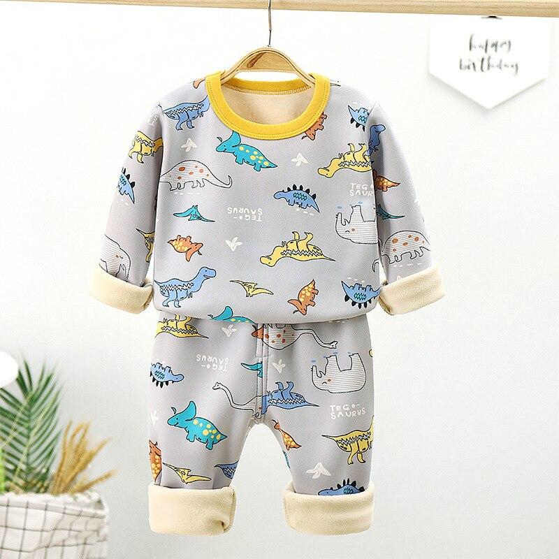 Zestaw dla dzieci maluch ubrania garnitury chłopcy piżamy zestaw dzieci noszą bawełniane zwierzęta wiosenne jesienne ubrania spodnie dziewczyny mała bielizna nocna