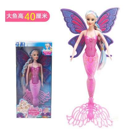 Boneca sereia natação com asas de borboleta, boneca clássica mágica para meninas, presentes de aniversário