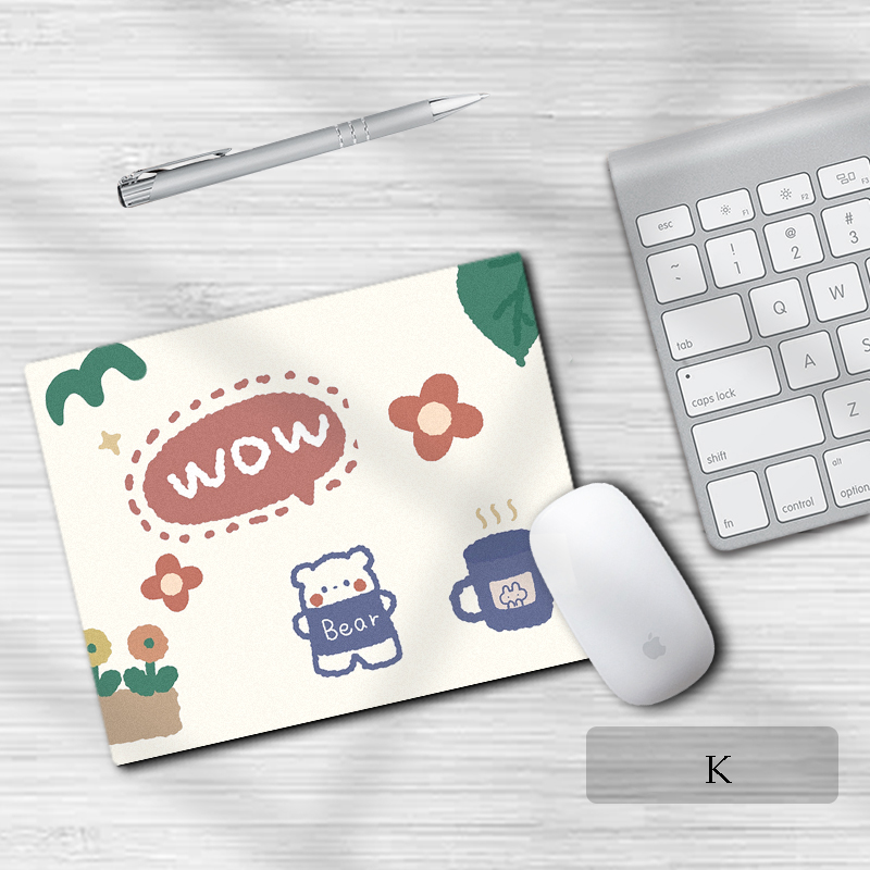 Cartoon Pattern Anti-Slip Mat Mouse Pad for Laptop Pc Gaming Mat Thickening Office Desktop Keyboard Pad Student Writing Desk Pad