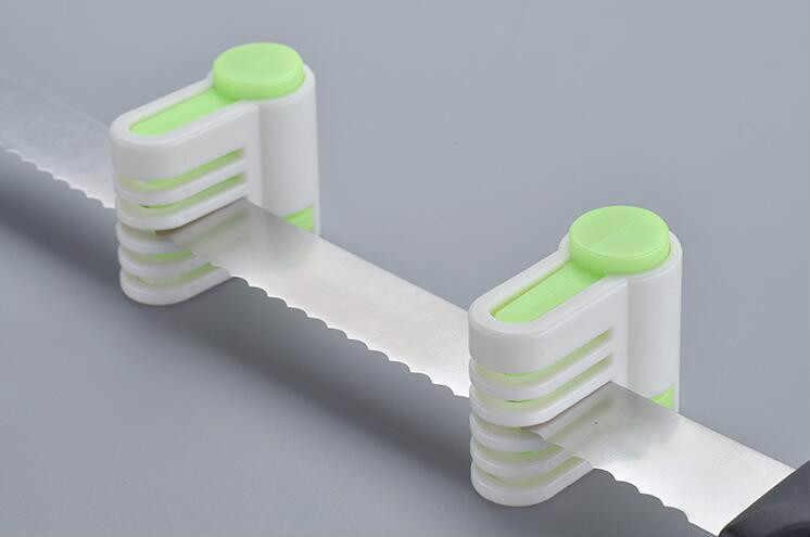 DIY ケーキスライスナイフカッターレベラーステンレススライサーセット二重線調整可能なバターパンケーキカッター家庭の台所ベーキングツール ZXH