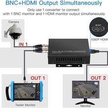 TLT-TECH Full HD 4K TVI/CVI/AHD to HDMI Converter Adapter Convert TVI CVI AHD CVBS BNC Video Signal to HDMI