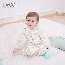 Детская Пижама; Комплект для сна унисекс с длинными рукавами; зимняя одежда для мальчиков и девочек; мягкая хлопковая одежда для сна