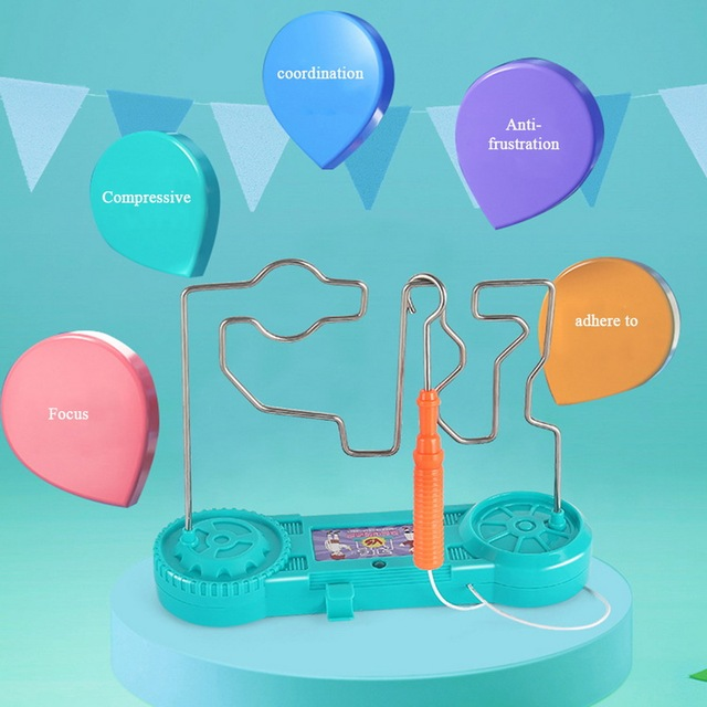 Kids Collision Electric Shock Toy Education Electric Touch Maze Game Party Funny Game Science Experiment Toys for Children Gift 4