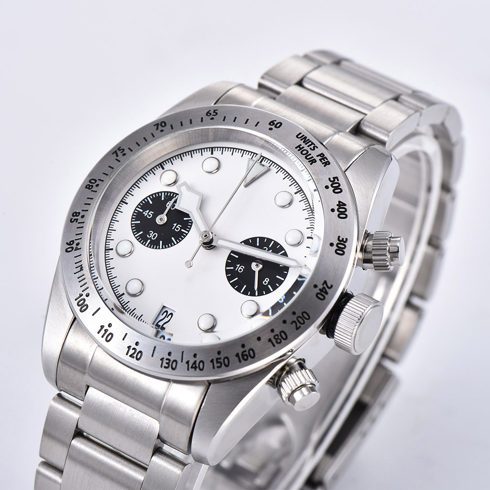 2019 новые мужские часы 41 мм Schwarz Bay 79350 хронограф кварцевые японские MIYOTA VK64 Move Мужские t 316L чехол из нержавеющей стали часы - 4