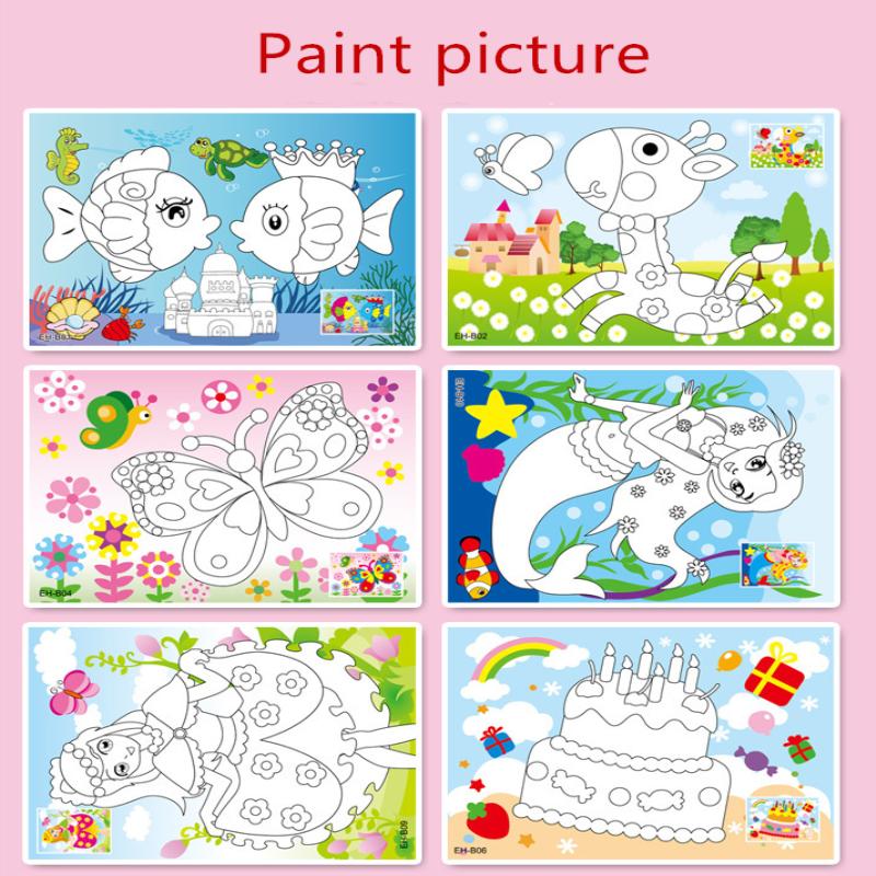 Diamond Art Stiker Mosaik Kerajinan Anak-anak Teka-teki Pendidikan Kristal DIY Lukisan Kartun Berlian Stiker Mainan Kit Mainan Batu Stiker