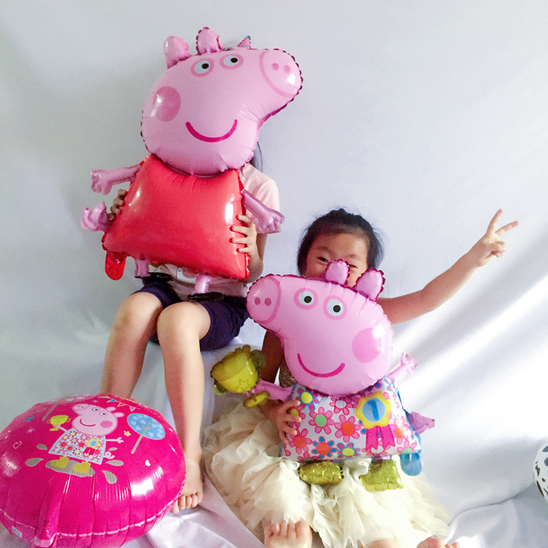 1pc 18inch Peppa Pig Figure Balloon Peppa George Foil Balloons Baby Shower Happy Birthday Party Room Dcorations Kids Toys Gift