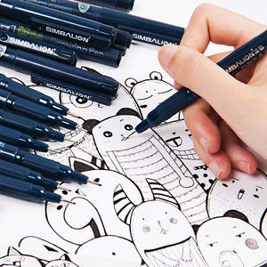 Waterproof black micron pen waterproof Hand-drawn design sketch needle pen hand drawing line fineliner cartoon signature pen set